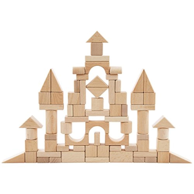 Perfeclan 約100本入り ホーム形おもちゃ 建物ブロック ビルディングブロック 立体パズル 積み木