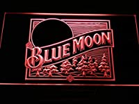 Blue Moon Beer Bar Pub Old LogoLED看板 ネオンサイン ライト 電飾 広告用標識 W60cm x H40cm レッド