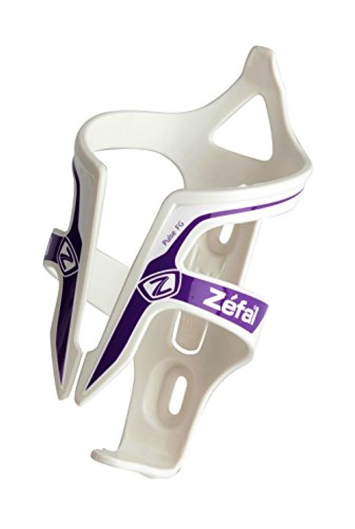 シティ活力一元化するZefal(ゼファール) PULSE 樹脂ボトルケージ ホワイト/パープル