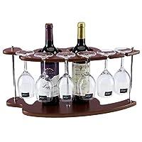 ログワインラック、クリエイティブヨーロッパのワインラック、ワイングラスラック上下逆さワインキャビネットの装飾