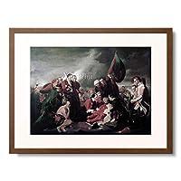 ベンジャミン・ウエスト Benjamin West 「ウルフ将軍の死 The Death of General Wolfe at Quebec」 額装アート作品