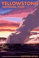 イエローストーン国立公園 ワイオミング - クレサイドラ・ゲイザー 36 x 54 Giclee Print LANT-84067-36x54