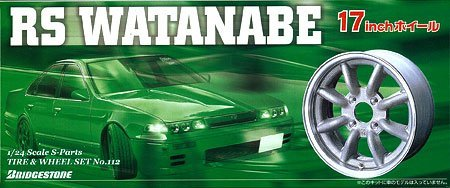 プラモデル Sパーツ タイヤ&ホイールセット No.112 RS WATANABE