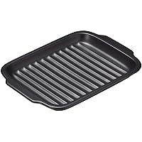 三陶 グリル陶板 魚焼きグリル ブラック 17×24×2.6cm 16742