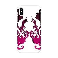 スマコレ iPhone xs max 専用ハードケース スマホカバー カバー ケース pc ハードケース ラブリー イラスト シンプル ピンク 004597
