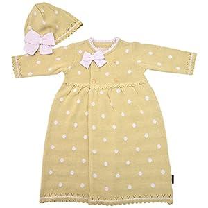アンナニコラ UVカット サマーニット 新生児ドレスセット 50-70cm ベージュ AN-35 E60 日本製