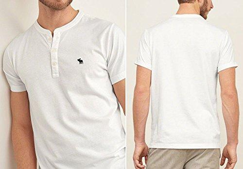(アバクロ)Tシャツ 半袖 メンズ ヘンリーネック 正規 121-0418-100white abercrombie & fitch[M] [並行輸入品]