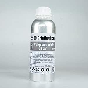 3Dプリンター用 水洗いレジン アルコール不要 灰色 光硬化 WH製 (500ml)