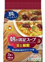 東洋水産 マルちゃん 朝の満足スープ 豆と雑穀 12.9g×3個×12パック入