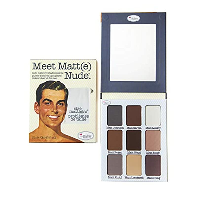 ポンドグリース牽引The Balm(ザバーム) Meet Matte Nude - Matte Eyeshadow Palette 25.5g/0.9oz