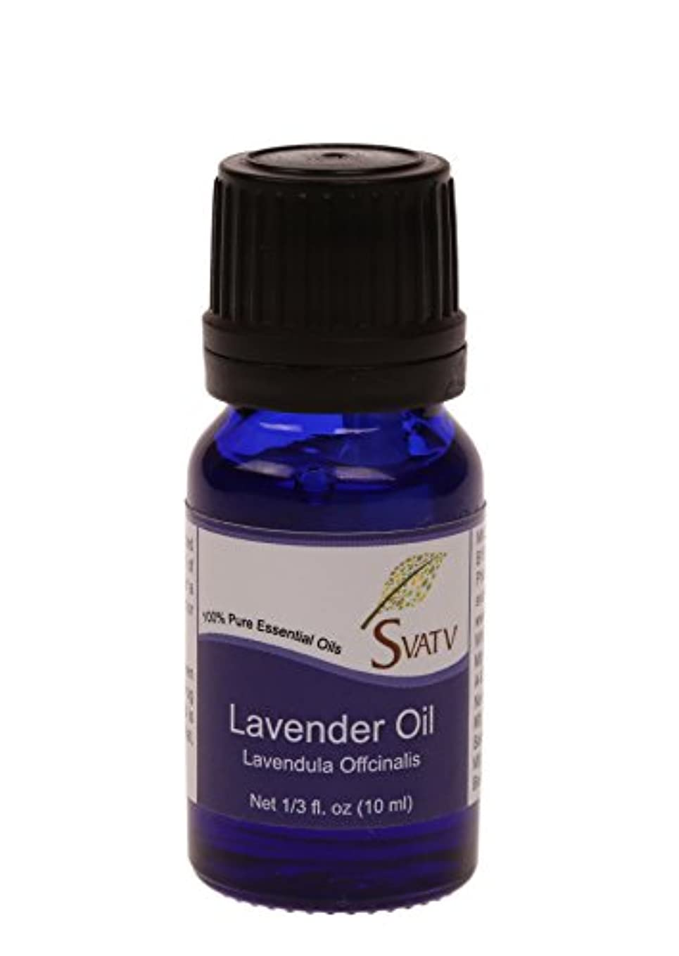 標高接続された解き明かすSVATVラベンダー(Lavandula Officinalis)エッセンシャルオイル10mL(1/3オンス)100%純粋で無希釈、治療用グレード