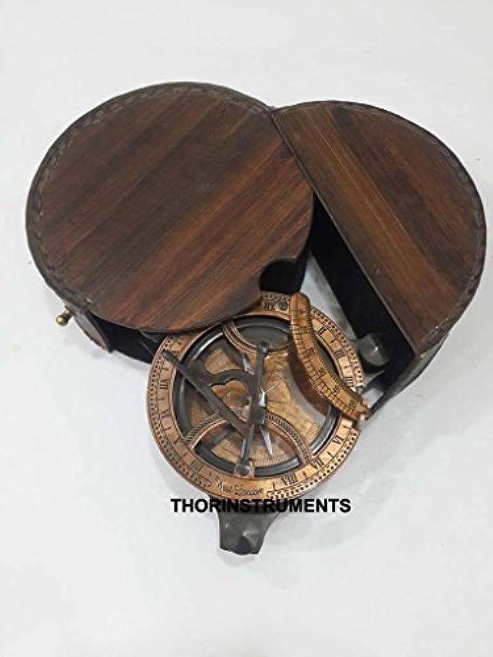 チャンスサイト提唱するヴィンテージ銅ダブルカラー日時計コンパスMaritime WestロンドンwithレザーケースFree
