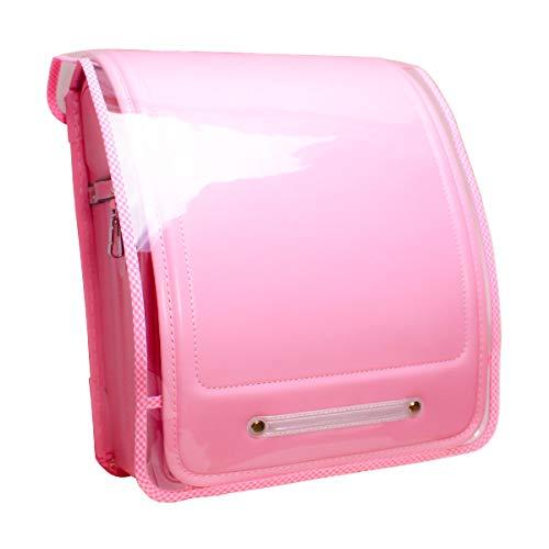 かわだい 透明ランドセルカバー ピンクのチェック