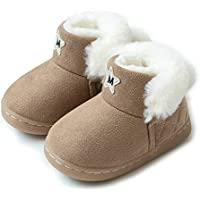 BFOEL Kids Snow Boots for Boys Girls Toddlers Little Kids Fur Lined Warm Winter Boots Outdoor Shoes
