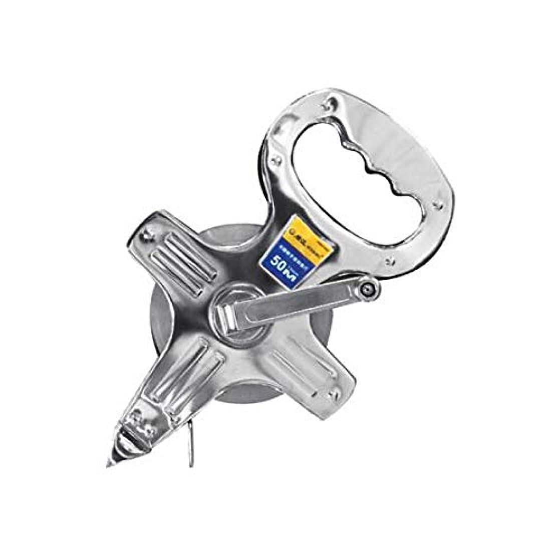 返済アクセル歌詞8HAOWENJU 定規、携帯用スチールテープメジャーステンレス鋼メッキテープメジャー工事現場30/50 / 100m (Color : Silver, Size : 100m)