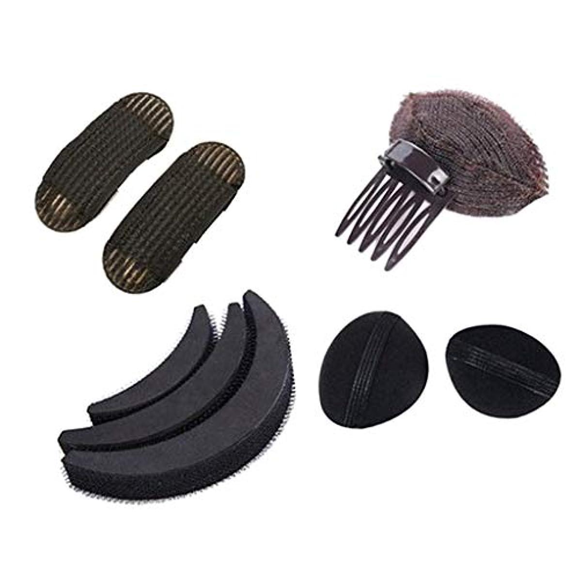 カニネズミ使役女性 ヘアスタイリングキット 髪型作成 ヘアスタイルツール 美容室サロン ブラック 4種類 - B