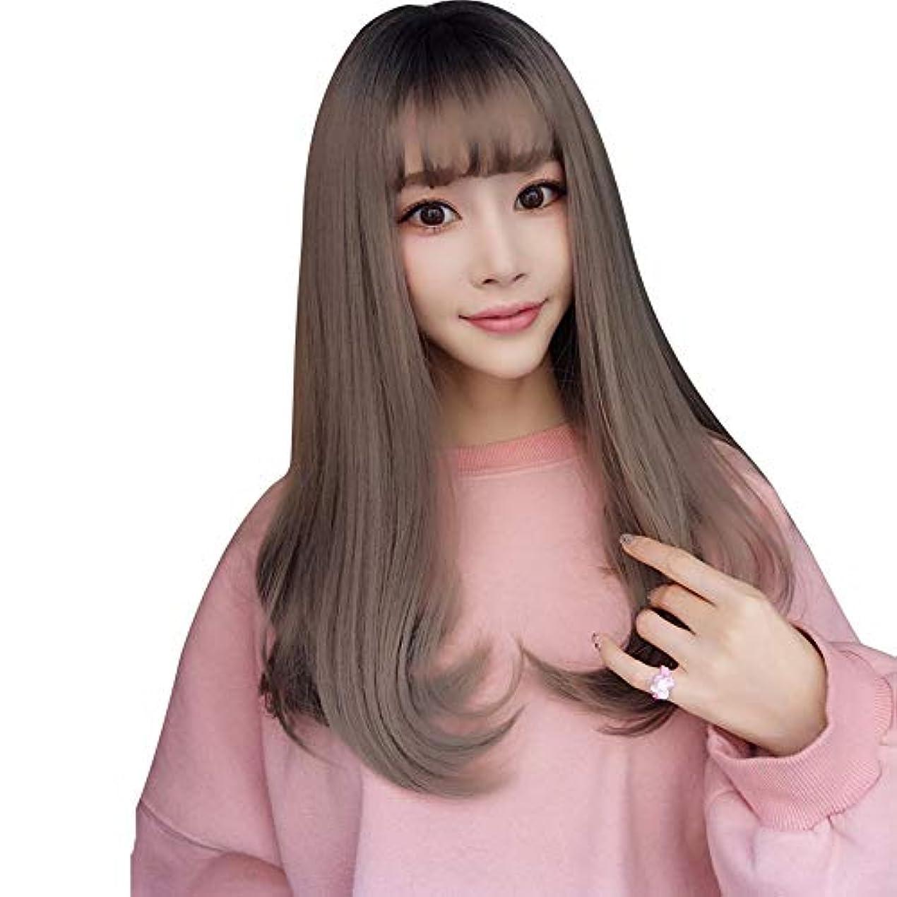 SRY-Wigファッション 20 ``長いウェーブのかかった色の髪のファッションかつら白人女性の自然な女性の髪の部分のための耐熱性合成かつら