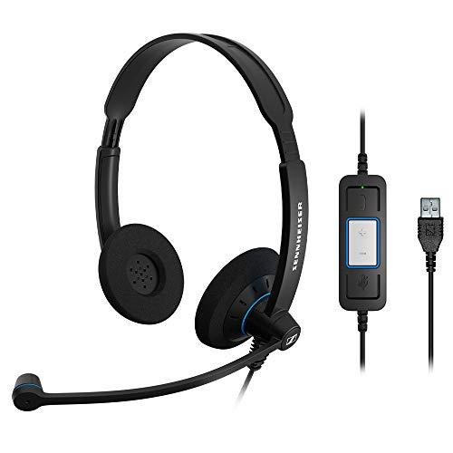 ゼンハイザー SC 60 USB CTRL エントリークラス 両耳USBヘッドセット、コールコントロール機能付 504549