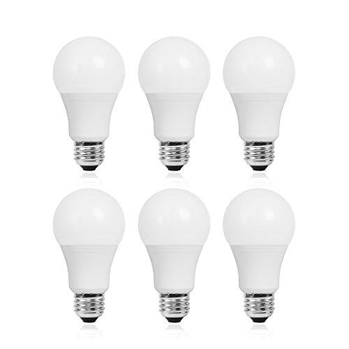 LED電球 50W形相当 E26口金 屋内照明 600lm 電球色 3000k 7W 50W形 E26 led 電球 A19 非調光 【6個入り】