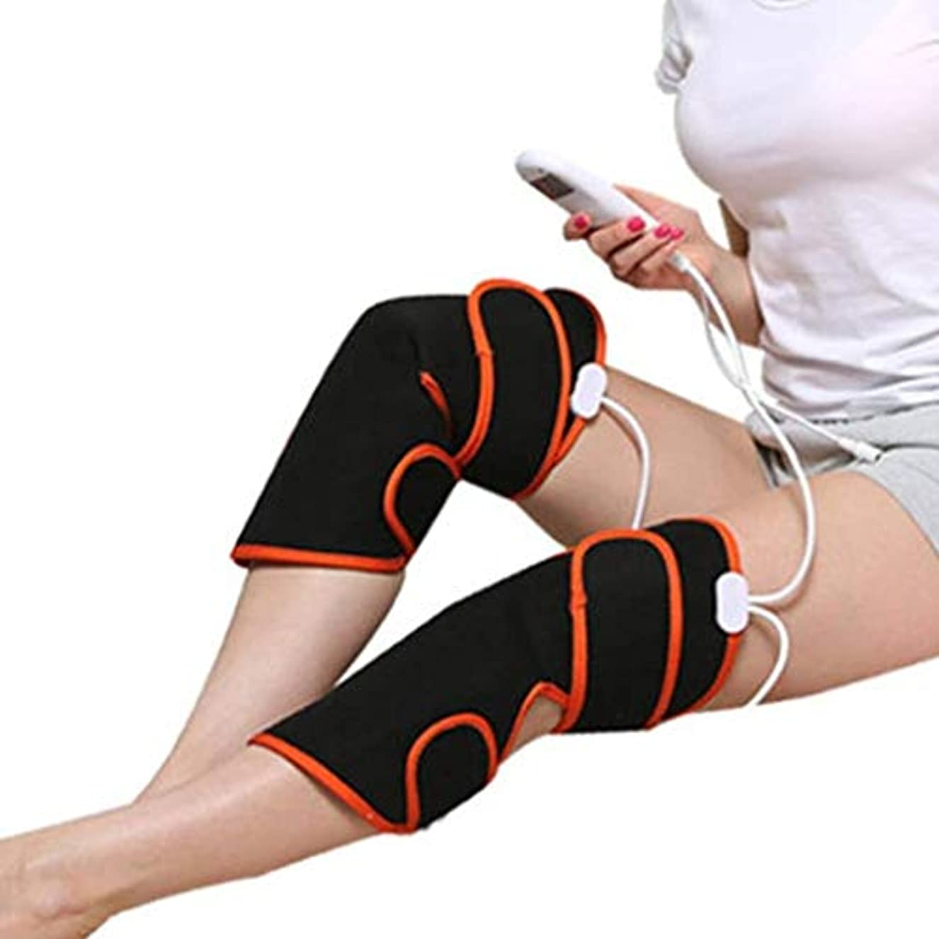 反論者移住する反対した暖房付き膝マッサージャー、電動バイブレーションマッサージャー、膝マッサージャーを定期的に加熱できます、筋肉の痛みを緩和するモード、9モード、冷たい脚、骨過形成患者、術後リハビリ