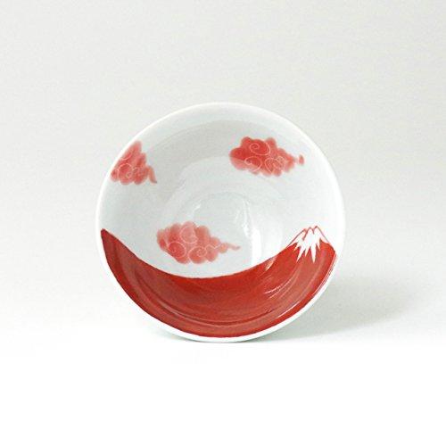 伊万里焼 富士山 飯碗(赤) 11.5cm 徳七窯 to70102