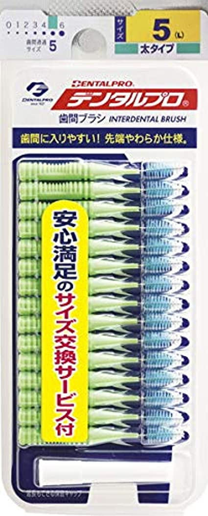 彼女自身疫病上に築きます【デンタルプロ】デンタルプロ 歯間ブラシ サイズ5-L 15本入 ×3個セット