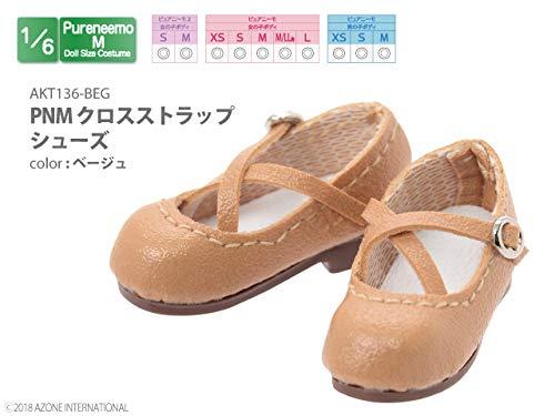 ピュアニーモ用 PNM クロスストラップシューズ ベージュ (ドール用)