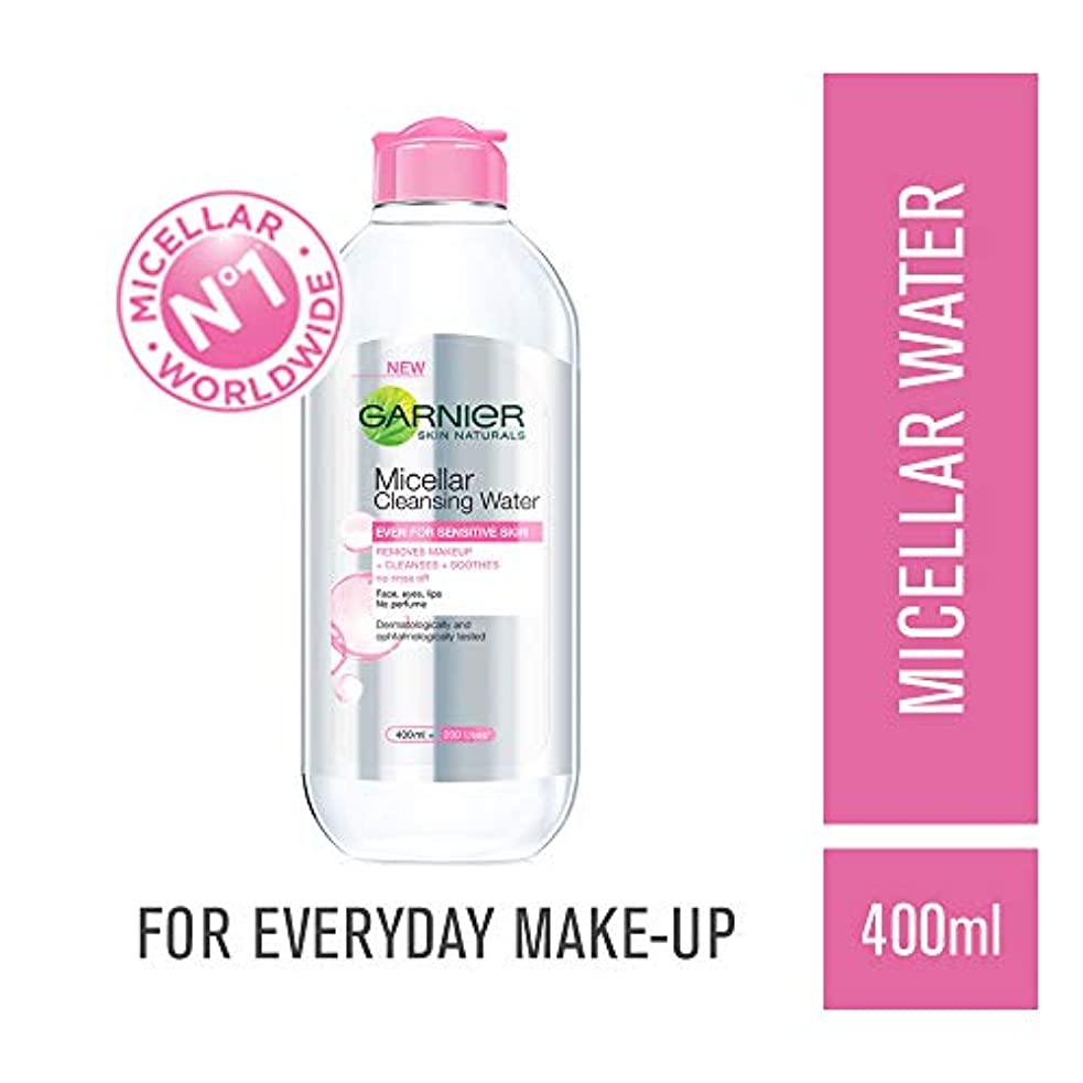 残酷過敏なチェスGarnier Skin Naturals, Micellar Cleansing Water, 400ml