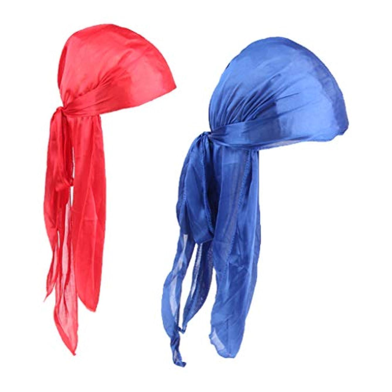 項目レトルトハッピー2ピース女性男性抜け毛ケモビーニーデュラグバンダナイスラム教徒ターバン赤、青