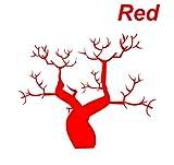 ノーブランド 赤 そびえたつ枯れ木 ハロウィンの飾り付けにバッチリ シール ステッカー デカール