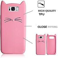 HuaWei Mate 8、セブンパンダHuaWei Mate 8 のシリコーン保護ケースTPUシリコーンの3D漫画ファッションかわいいひどいかわいい猫ソフトバックケースカバーとアンチスクラッチ衝撃吸収携帯電話保護袋シェルバンパー - ピンク