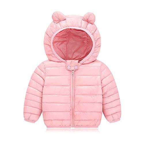 1b3901a8748fa AIKSSOO 新生児 ダウンジャケット 女の子 男の子 軽量 ベビー服 コート 冬用 フード付き 防寒 ピンク 120  通気性が良く、快適で肌に優しい、色が鮮明で、きれいな上に ...