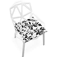 座布団 低反発 黒い葉 ビロード 椅子用 オフィス 車 洗える 40x40 かわいい おしゃれ ファスナー ふわふわ fohoo 学校