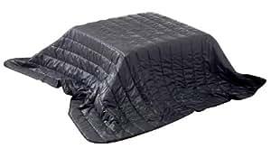 ダウンジャケット素材使用 洗える 軽量 コタツ掛ふとん (保管時はクッションに早変わり) ブラック 正方形