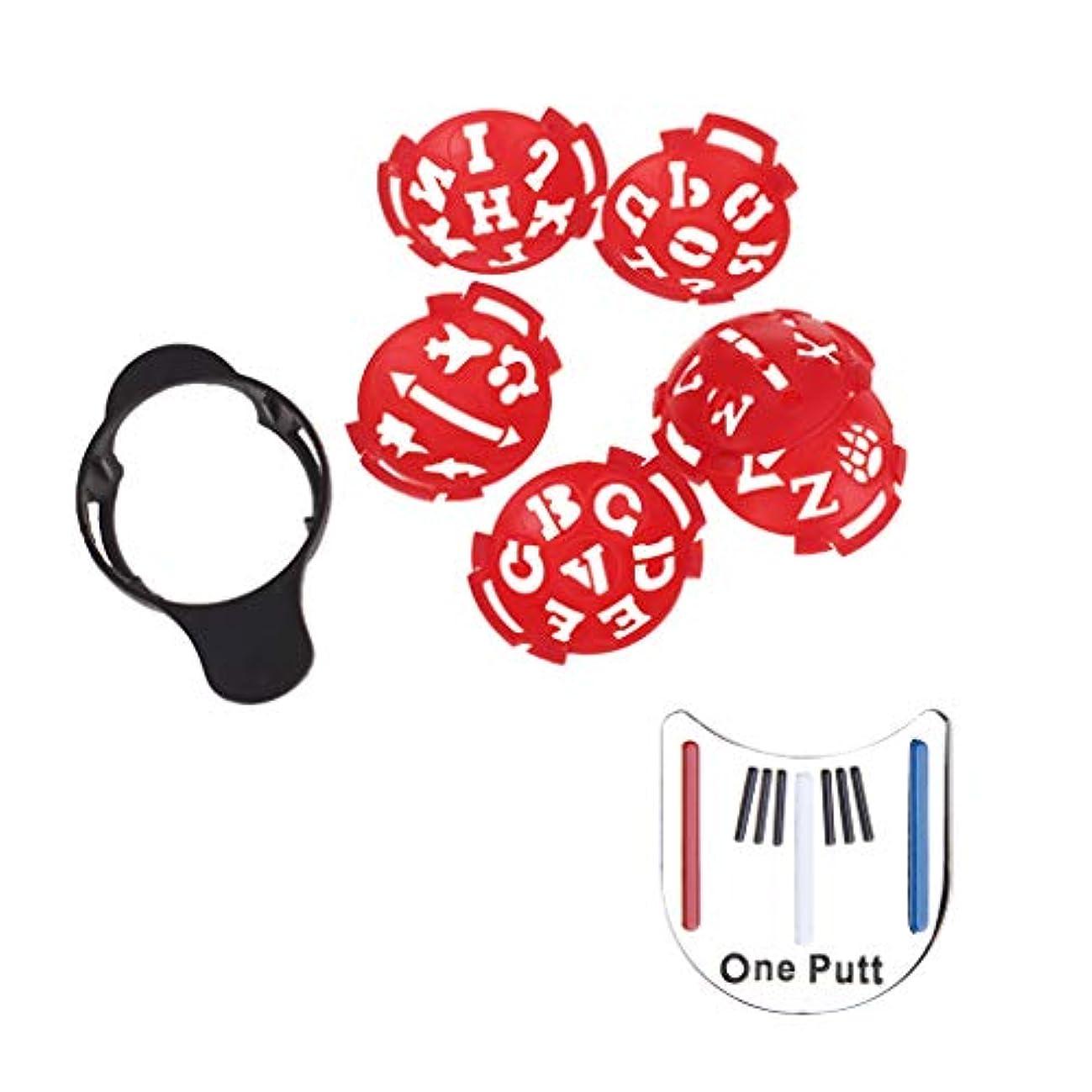 十億ピンポイント代数的異なるアートライン ゴルフボールマーカー スポットライナー テンプレートマーク マルチテンプレート