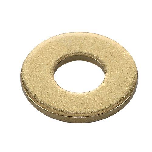 国産 黄銅 特寸平座金(平ワッシャ) 生地(脱脂) M16 内径(d)16.2×外径(D)30×厚み(t)3 4ヶ入 BBW-1630-30C