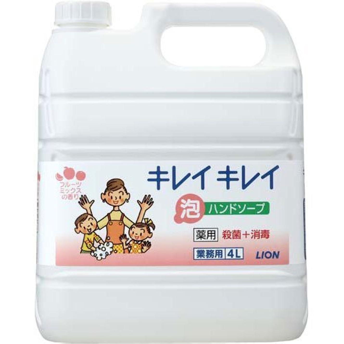 防止吸収するよりライオンハイジーン キレイキレイ薬用泡ハンドSフルーツM詰替4L×3本