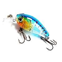 XUBAOFU, ミニクレイジーワブラー餌3 g / 4.5 cmトップウォータークランクベイト人工ルアープラスチックハード餌ペスカフローティング釣りルアーバスペスカ (色 : Lure 3 4pcs)