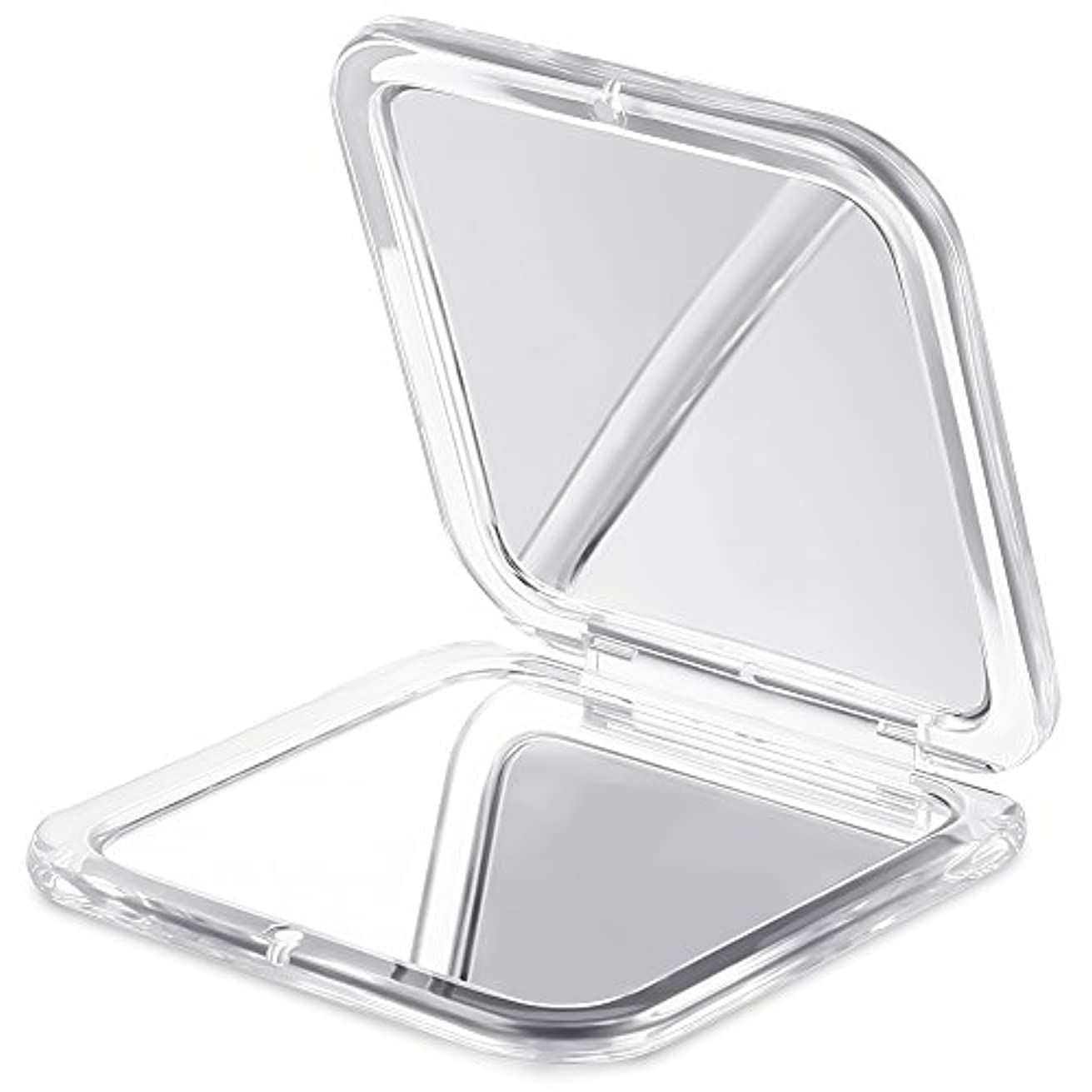 別のしてはいけないパンサーJerrybox 両面コンパクトミラー 化粧鏡 拡大鏡 5倍拡大+等倍鏡 折りたたみ式 コンパクト鏡 携帯ミラー 外出に