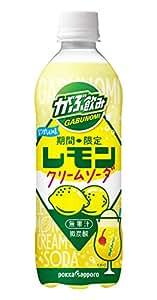 [訳あり(賞味期限2020年1月7日)] ポッカサッポロ がぶ飲みレモンクリームソーダ 500ml ×24本