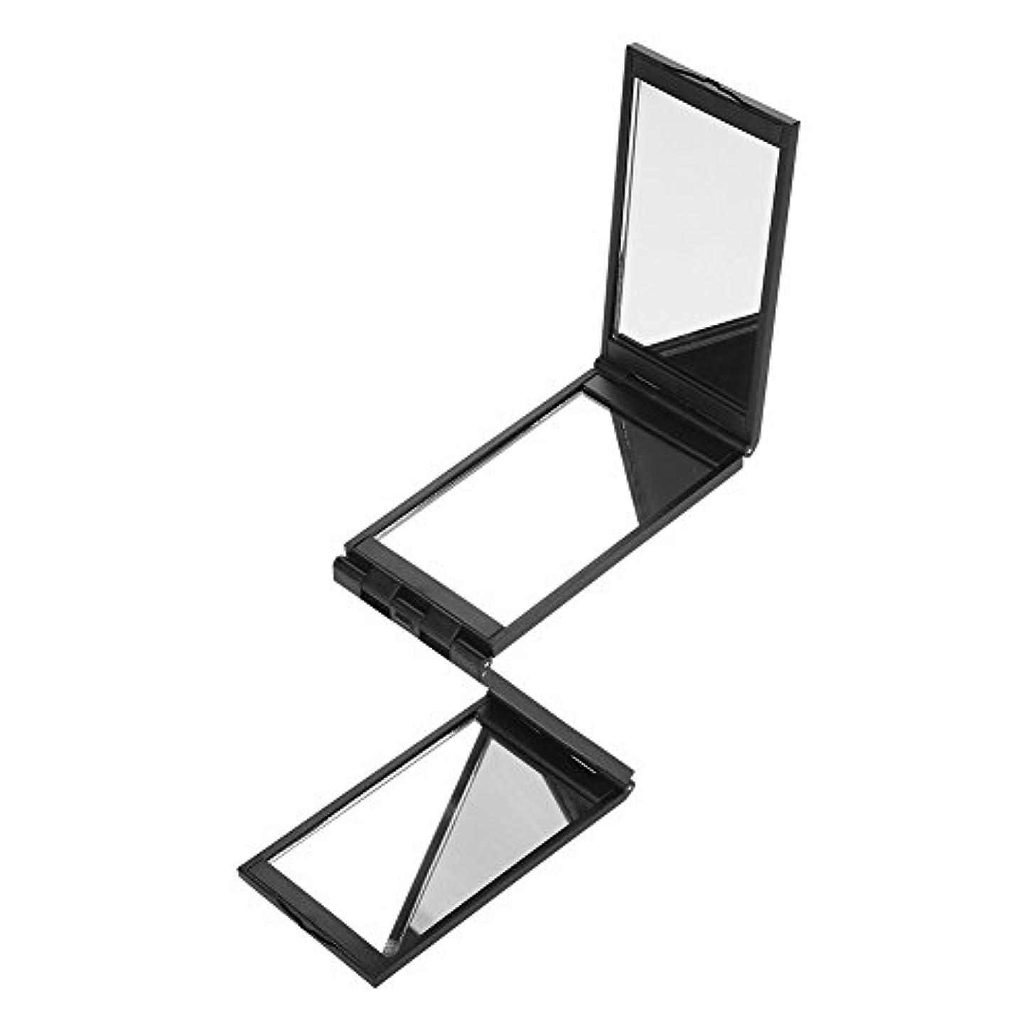 報復一口群れ化粧鏡 360°デッドアングル 折りたたみ式 ヘアカラー ミラー ミニ折りたたみポータブル 化粧道具 後頭簡単に見れる