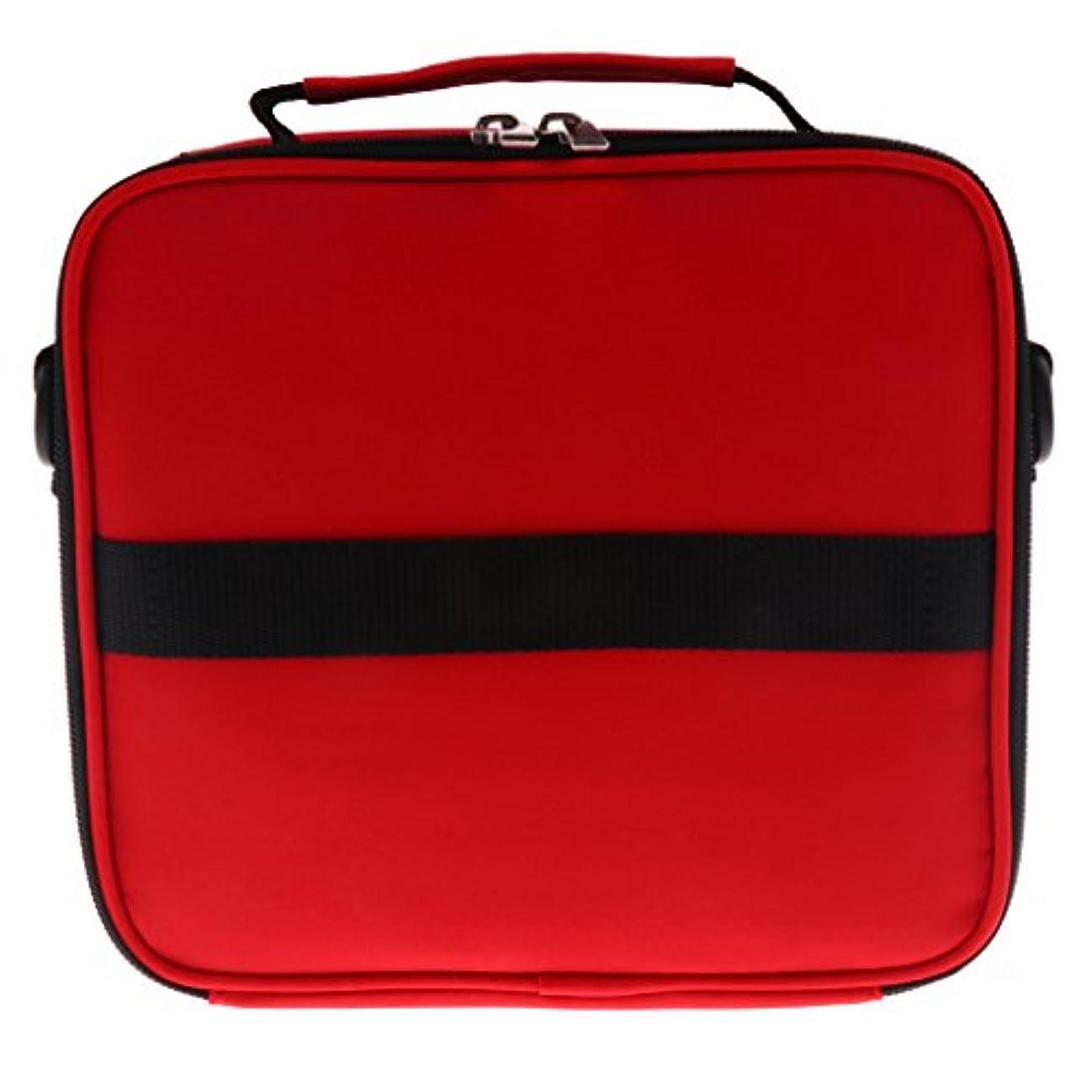 道に迷いましたセミナー失敗Hellery 全6色 アロマポーチ エッセンシャルオイル ケース 香水収納バッグ アロマケース 携帯用 30本用 - 赤
