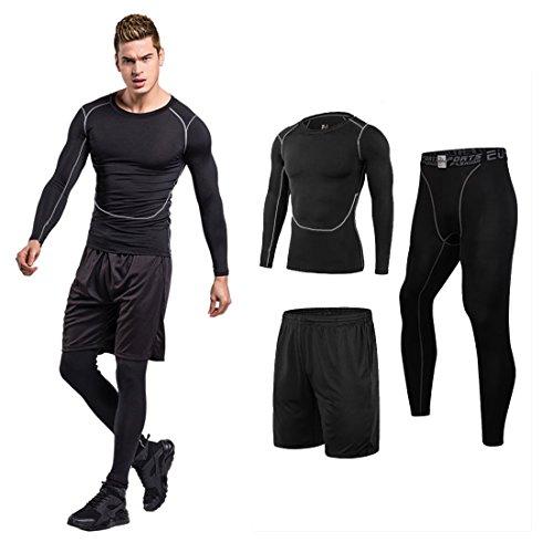 スポーツタイツ ショートパンツ セット 大きいサイズ スパッツ ブラック 2XL