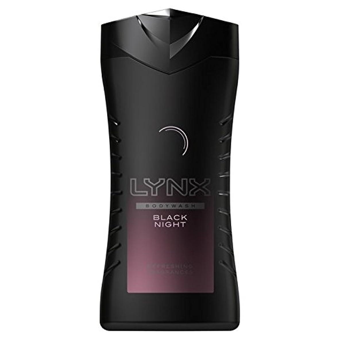 ボックスブラウザパンダLynx Black Night Shower Gel 250ml (Pack of 6) - オオヤマネコ黒夜シャワージェル250ミリリットル x6 [並行輸入品]