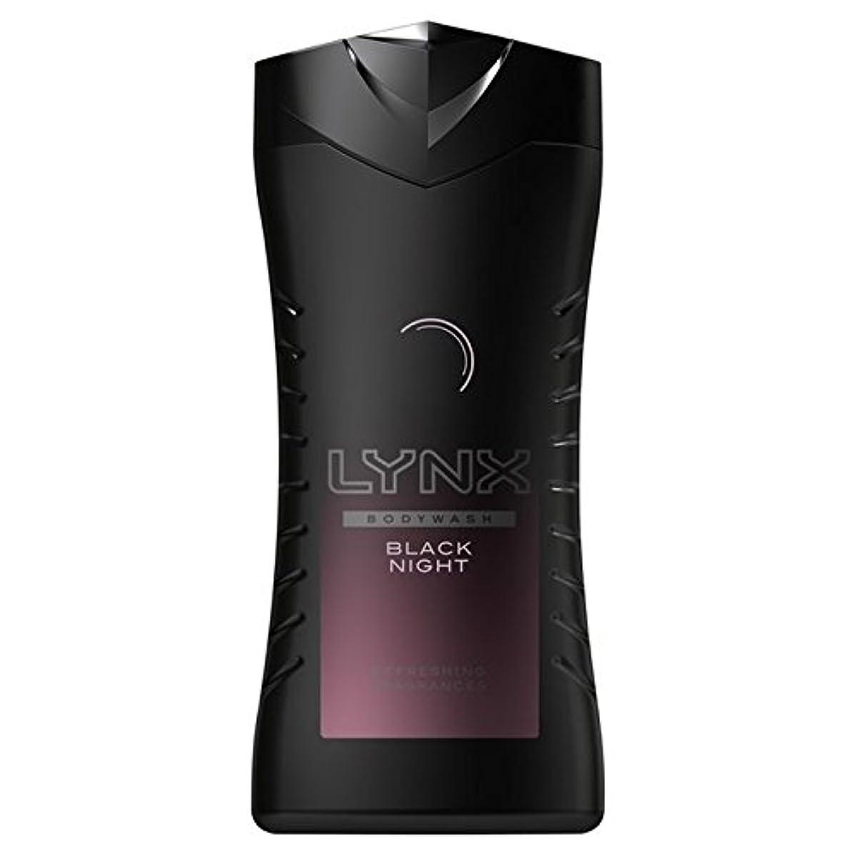 覚醒高さ与えるLynx Black Night Shower Gel 250ml (Pack of 6) - オオヤマネコ黒夜シャワージェル250ミリリットル x6 [並行輸入品]