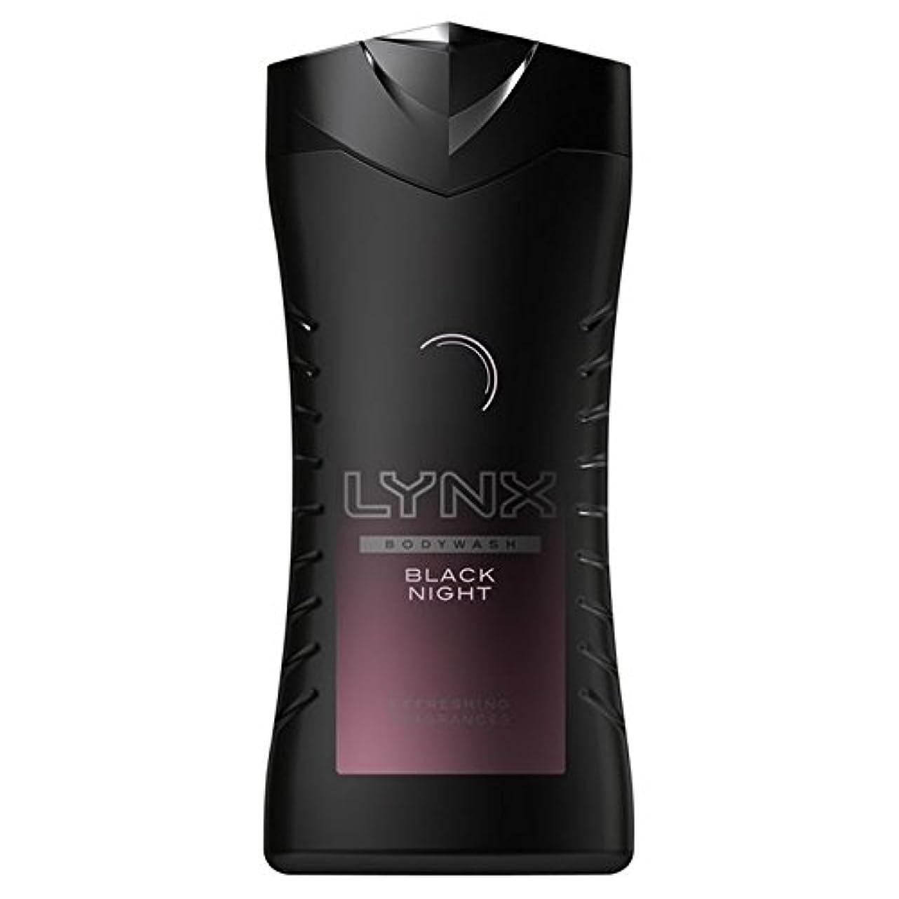 フロー樹皮分岐するLynx Black Night Shower Gel 250ml (Pack of 6) - オオヤマネコ黒夜シャワージェル250ミリリットル x6 [並行輸入品]