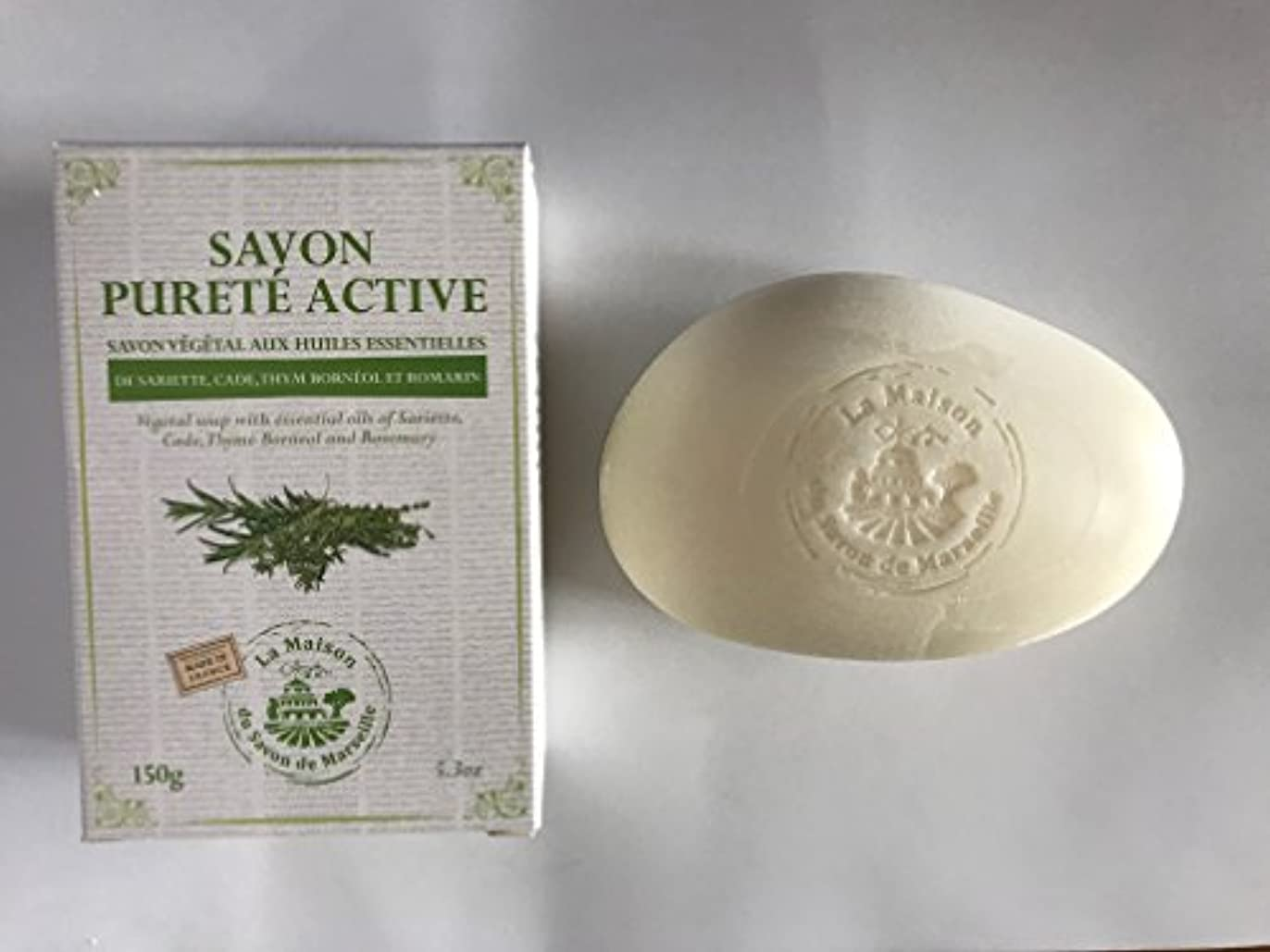 予約兄軽蔑するSavon de Marseille Soap with essential oils,Purete active 150g