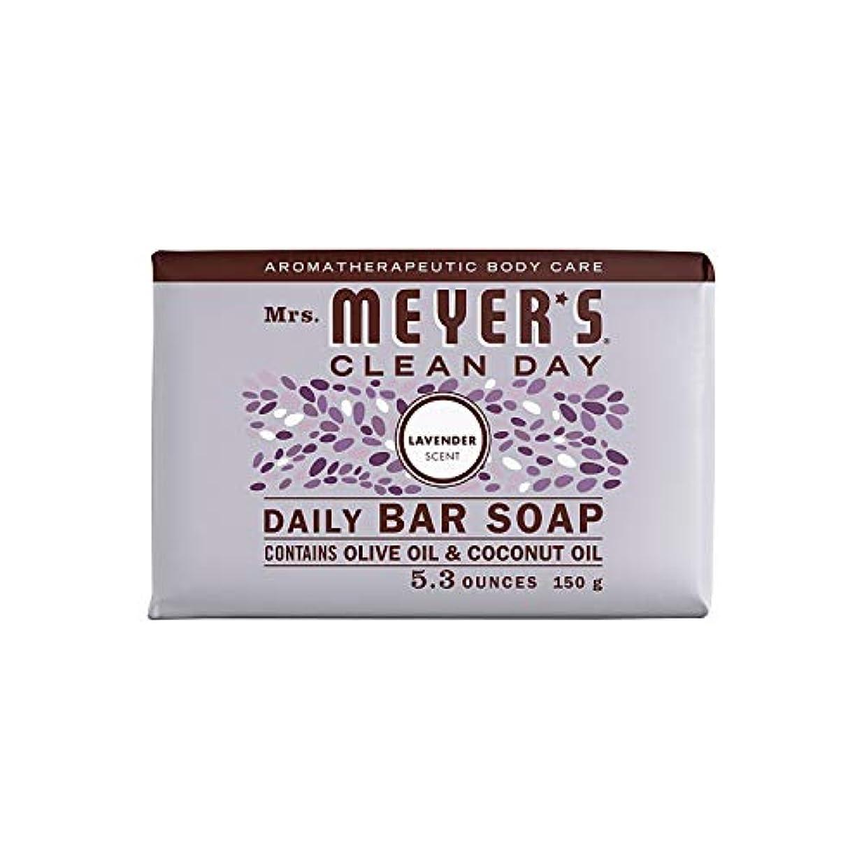 再生バスケットボールクラフトBar Soap - Lavender - 5.3 oz - Case of 12 by Mrs. Meyer's