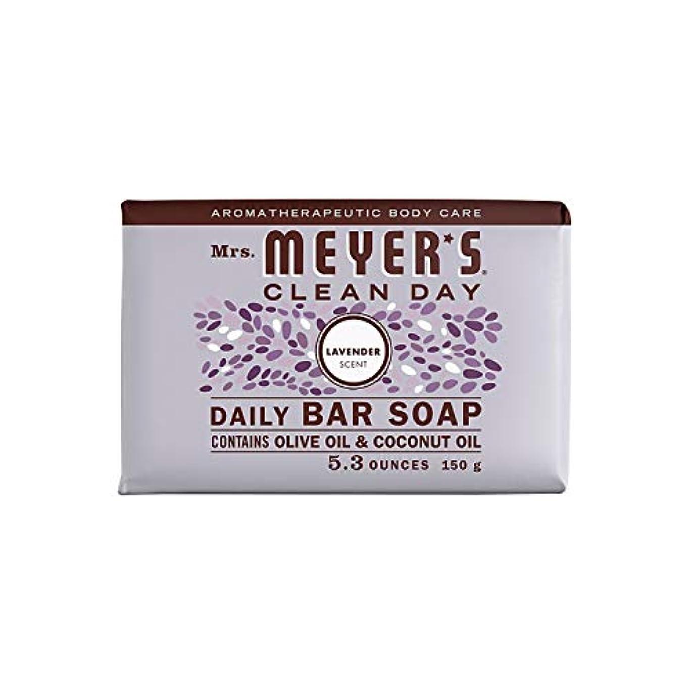 明快のどシルエットBar Soap - Lavender - 5.3 oz - Case of 12 by Mrs. Meyer's