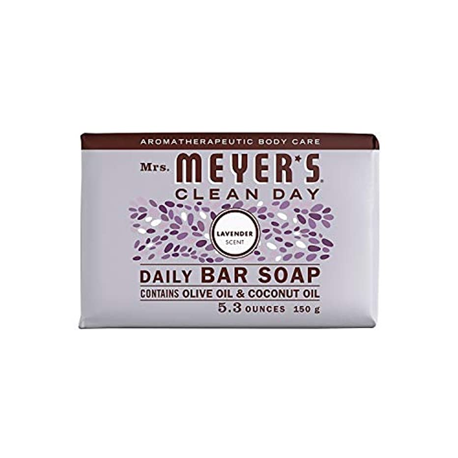 ストライク精神的に啓発するBar Soap - Lavender - 5.3 oz - Case of 12 by Mrs. Meyer's